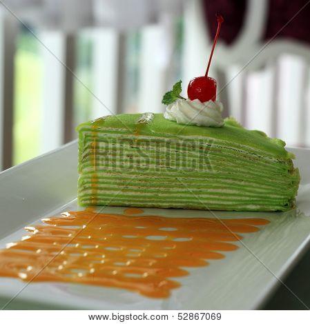 Pandan Crepe Cake