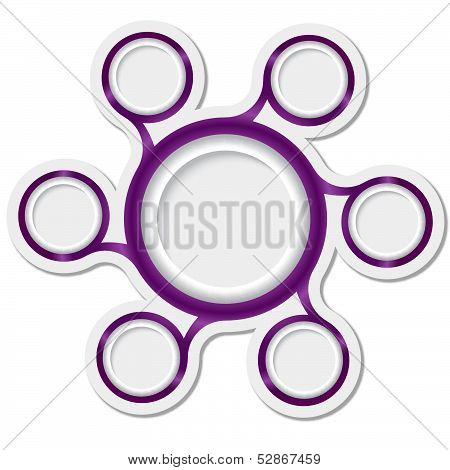 Purple Circular Boxes For Text