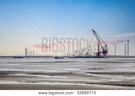 Construction Of Wind Power At The Shoal