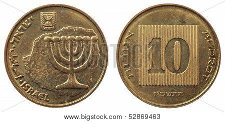 Ten Agorot Coin