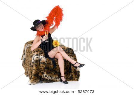 Drunk Glamor Lady