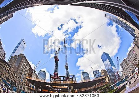 Construction Site At Ground Zero In New York