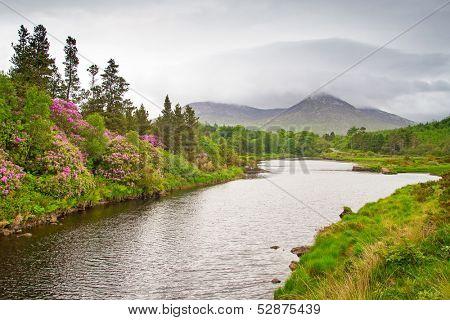 Scenery of Connemara mountains, Ireland