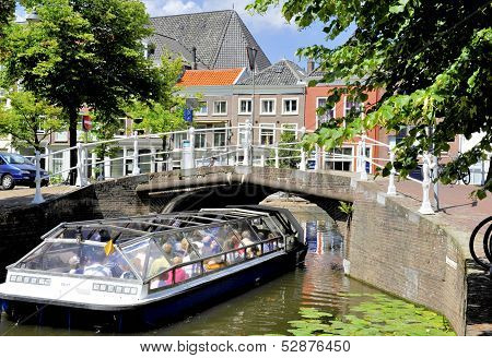 Tourist Boat In Delft