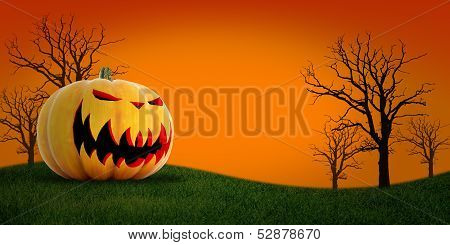 Halloween Pumpkin With Background