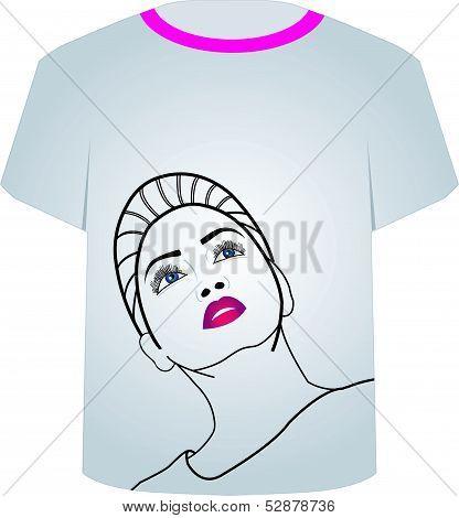 T Shirt Template- Fashion Model