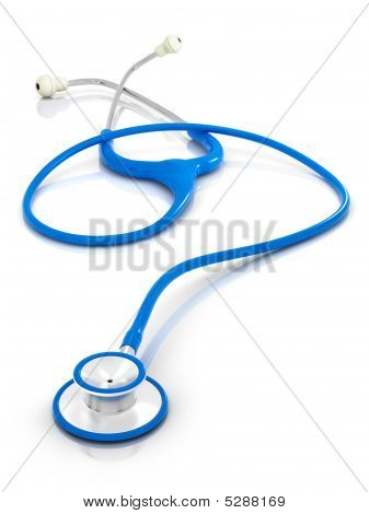Blue Stethoscope - Isolated