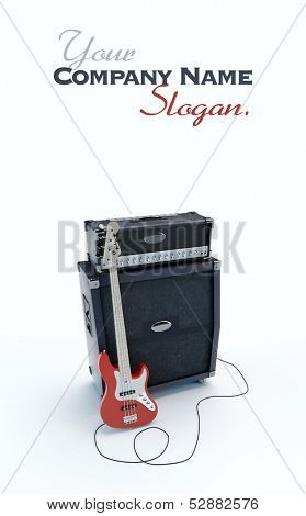 3D rendering of an electric guitar