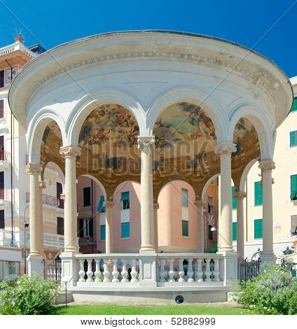 Chiosco Della Musica (1929 By Architect Luigi Devoto And Artist Giovanni Grifo), Rapallo, Italy