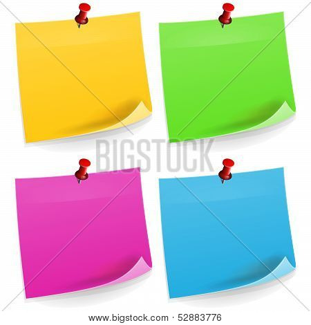 Four Sticky Notes