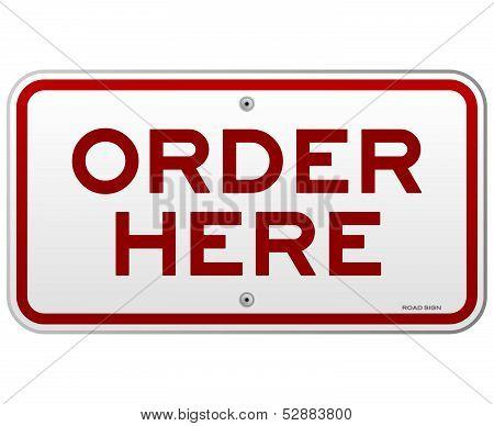 Order Here Notice