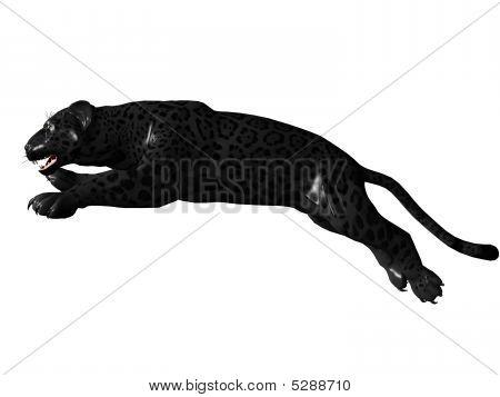 Jumping Black Panther