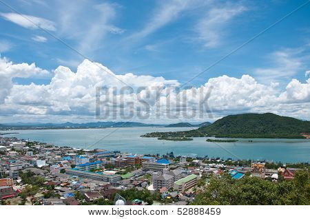 Songkhla City From Top View