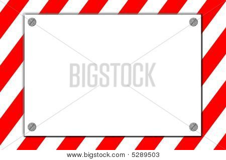 Striped Caution Danger Sign