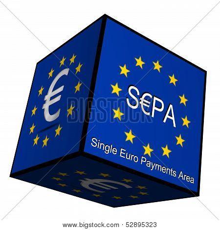 SEPA - Single Euro Payments Area - Button 3d