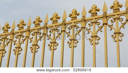 Versailles Gate Bars Angled
