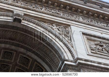 Arc De Triomphe Sculpture Details Right
