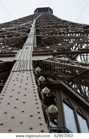 Eiffel Tower Leg Beams, Portrait