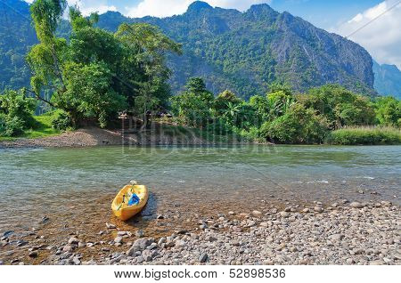 Nam Song River. Vang Vieng. Laos