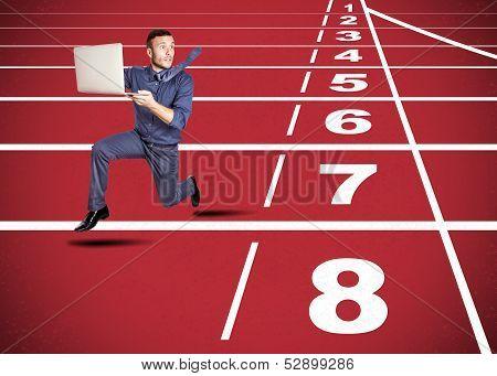 Stressed Man On Track