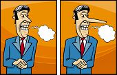 image of politician  - Cartoon Concept Illustration of Funny Insincere Businessman or Politician Giving a Speech - JPG
