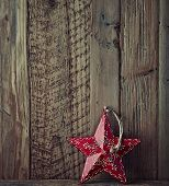 Old style christmas star; hand painted