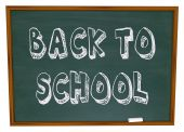 Back To School - Words On Chalkboard