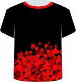 T Shirt Template- Valentine Hearts