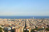 Постер, плакат: Barcelona Cityscape