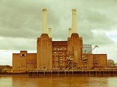 Retro Looking Battersea Powerstation, London