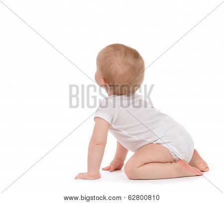 Child Baby Toddler Sitting Facing Backwards Back Rear View