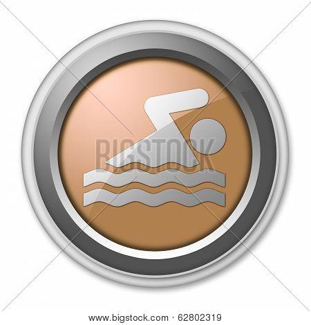 Icon Button Pictogram Swimming