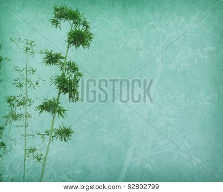 bamboo trees with texture of handmade paper