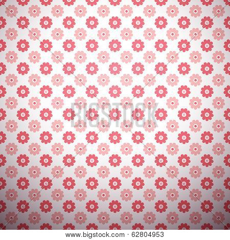Abstract flower pattern wallpaper. Vector illustration