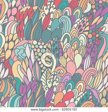 Gorgeous seamless pattern made of bright bursts and waves in vector. Seamless pattern can be used for wallpaper, pattern fills, web page backgrounds, surface textures