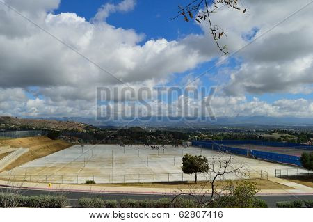 Basketball Courts Overlooking San Gabriel Valley