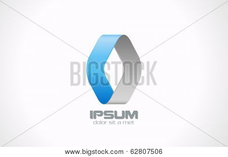 Business Corporate abstract vector logo design template. Rhombus icon. Creative loop infinity symbol.