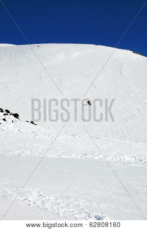 Skier, Etna Covered By Snow - Sicily
