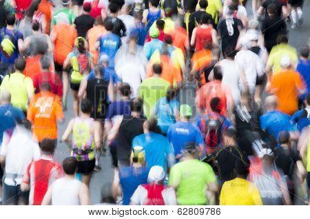 Marathon Runners Motion Blur