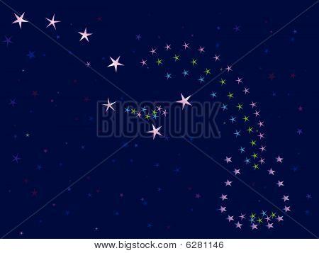 céu da noite estrelada