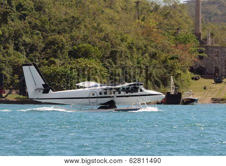 Seaplane Floating In Water