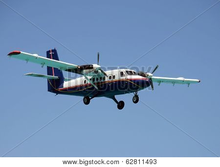 Propeller Airplane Landing