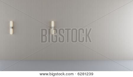Blank Wall With Lamps
