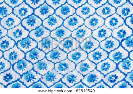 Floral Pattern On Fabric