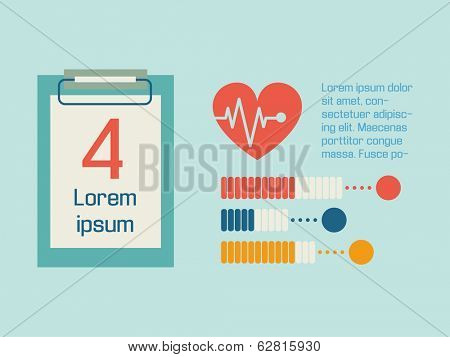 Flat Medical Infographics Elements. Vector.