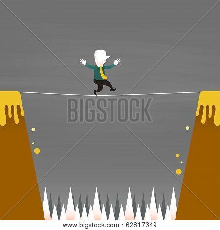 Flat Design Illustration Concept Of Balancing