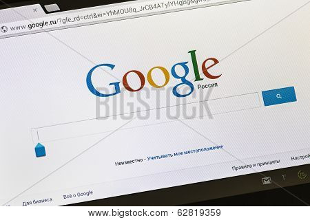 Detail Of Front-page Search Engine Google