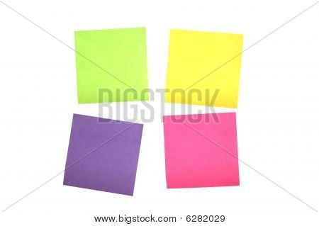 Four Scattered Post It Notes