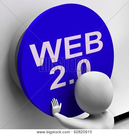 Web 2.0 Button Shows User-generated Website Platform