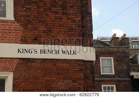 Kings Bench Walk, Inner Temple, Inns of Court, London
